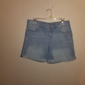 Justice 14 plus jean shorts light blue